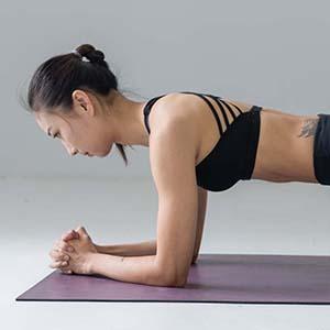 HIIT Lady on Yoga Mat